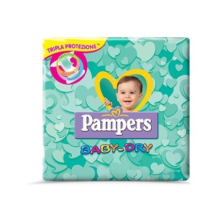 PAMPERS BABY DRY DOWNCOUNT MIDI 20 PEZZI