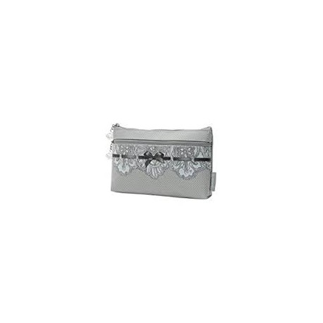 MATHILDE POCHETTE DENTELLE CON DUE ZIP