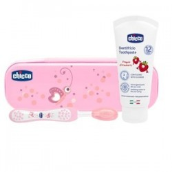 CHICCO SET DENTALE ROSA CON FLUORO