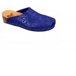 SILENE PRINTED FELT WOMENS BLUE 36 BIOPRINT MATERIALE