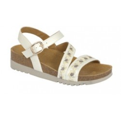 CALZATURA ADANNA SANDAL SYNTHETIC+EMBROIDERY WOMENS WHITE 38