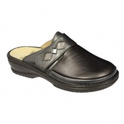ADELAIDE LEATHER + ELASTICATED WOMENS PEARL BROWN 38
