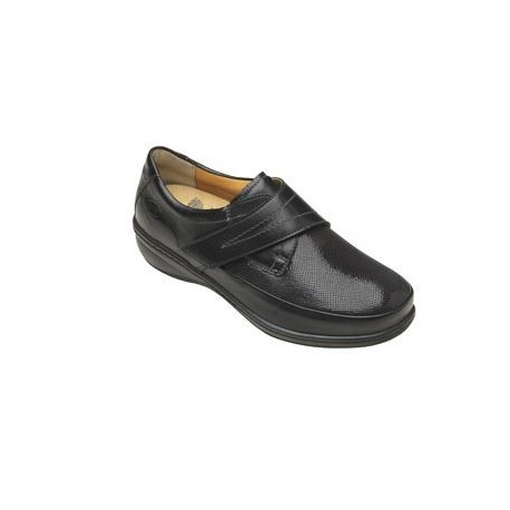 CATHERINE LEATHER + ELASTICATED WOMENS BLACK 35 FODERA PELLE SOTTOPIEDE PELLE SCAMOSCIATA SUOLA PU CALZATA G REMOVABLE