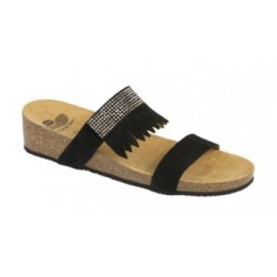 CALZATURA AMBERLY SUEDE + STRASS WOMENS BLACK 38 TOMAIA PELLE SCAMOSCIATA+STRASS FODERA TOMAIA MICROFIBRA SOTTOPIEDE