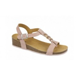 CALZATURA MONIQUE SUEDE + STRASS WOMENS PALE PINK 38 TOMAIA PELLE SCAMOSCIATA+STRASS FODERA TOMAIA MICROFIBRA
