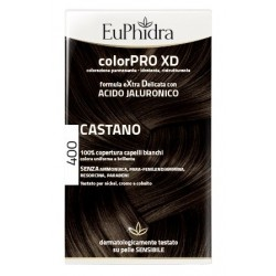 EUPHIDRA COLORPRO XD 400 CASTANO GEL COLORANTE CAPELLI IN FLACONE + ATTIVANTE + BALSAMO +