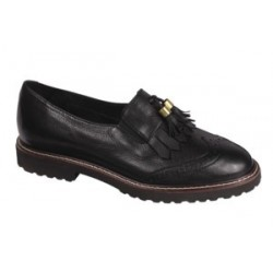 SAVANNAH TUMBLED LEATHER WOMENS BLACK 38 MATERIALE TOMAIA PELLE BOTTALATA FODERA TOMAIA MICROFIBRA+TESSUTO SOTTOPIEDE
