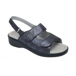 SCARPA MATILDA SANDAL SYNTHETIC+STRASS W NAVY BLUE 39 TOMAIA IN SIMILPELLE EFFETTO SPAZZOLATO+STRASS FODERA IN