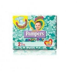 PANNOLINI PER BAMBINI PAMPERS BABY DRY DOWNCOUNT NO FLASH MINI 24 PEZZI